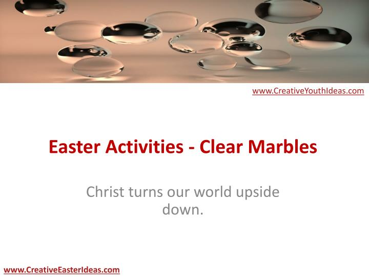 Easter activities clear marbles