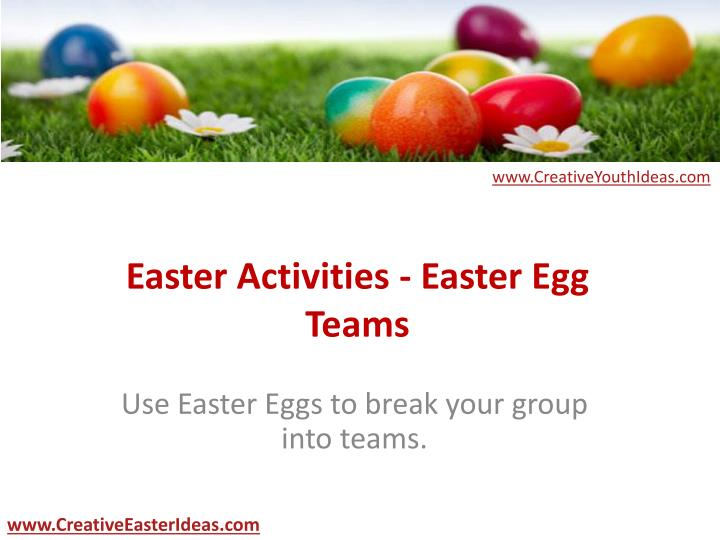 easter activities easter egg teams