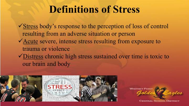 Definitions of Stress