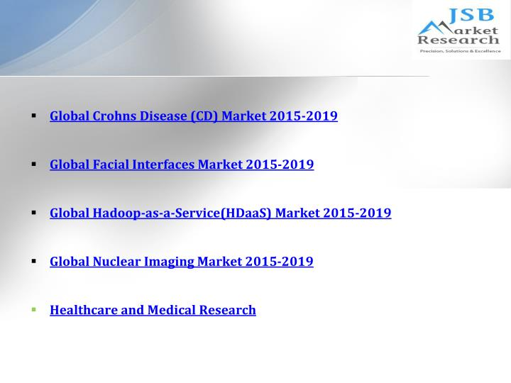 jsb market research nuclear medicine market The global nuclear medicine market mainly due to the high quality of services offered, greater innovations and their increased reliabilitythis research report analyzes this market on the basis of its market segments, major geographies, and current market.