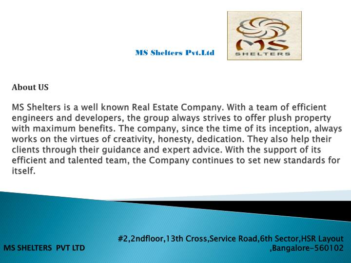 2 2ndfloor 13th cross service road 6th sector hsr layout bangalore 560102