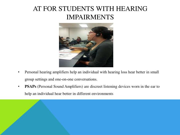 AT for Students with Hearing impairments