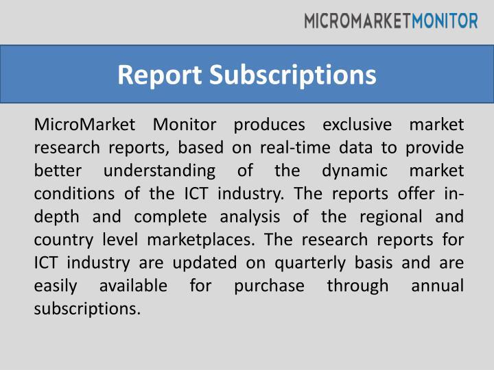 Report Subscriptions