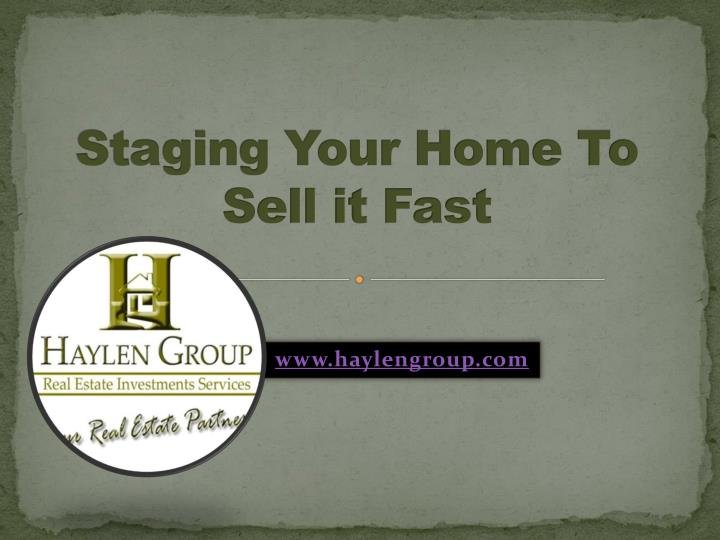Ppt staging your home to sell it fast powerpoint for Stage your house to sell