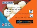 for order cakes sweets mithai and dry fruits online