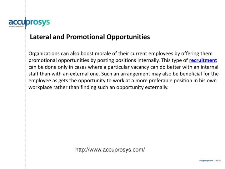 Lateral and Promotional Opportunities