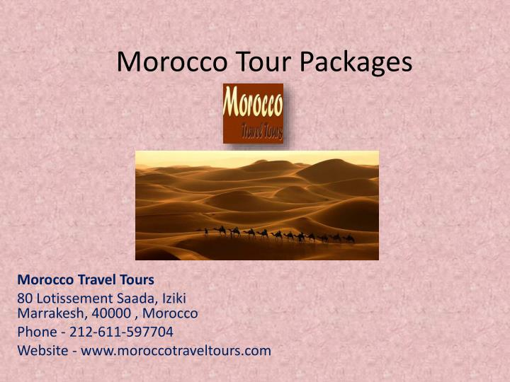 morocco tour packages n.