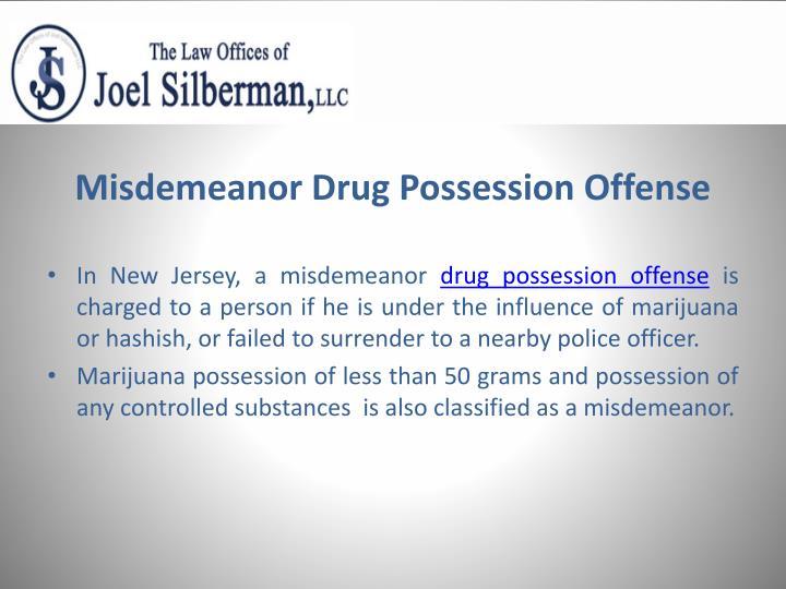 Misdemeanor drug possession offense