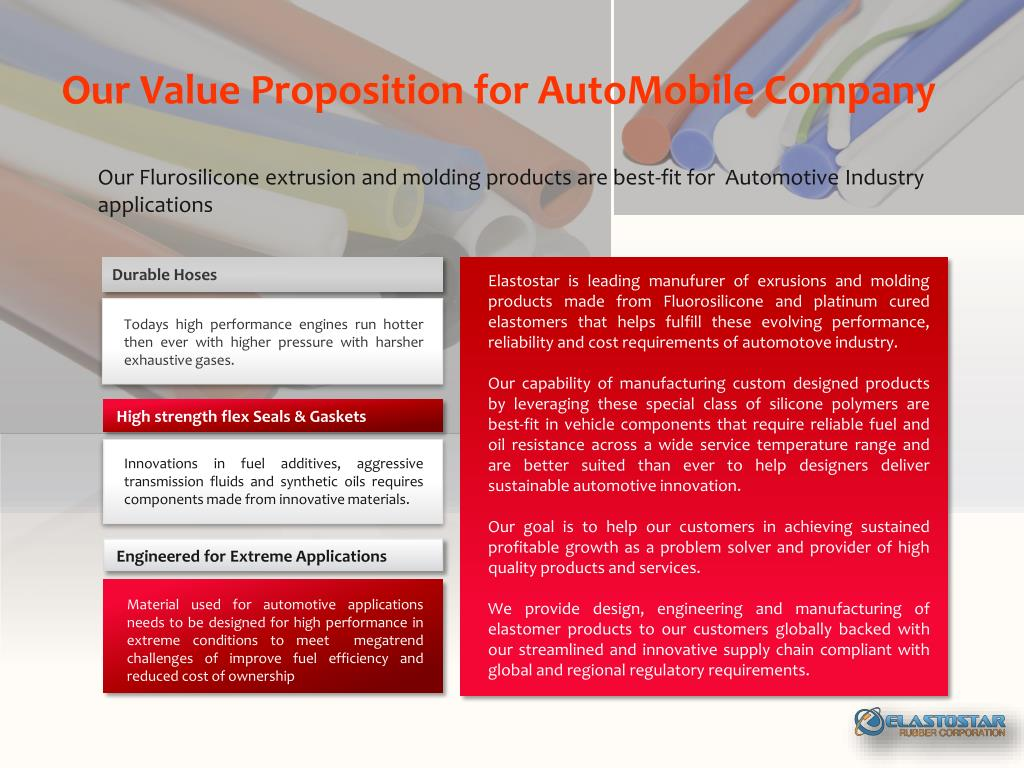 PPT - Silicone Rubber for AutoMobile Company PowerPoint