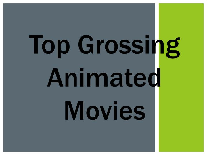 Top Grossing Animated