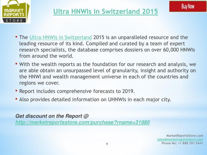 Ultra HNWIs in Switzerland 2015