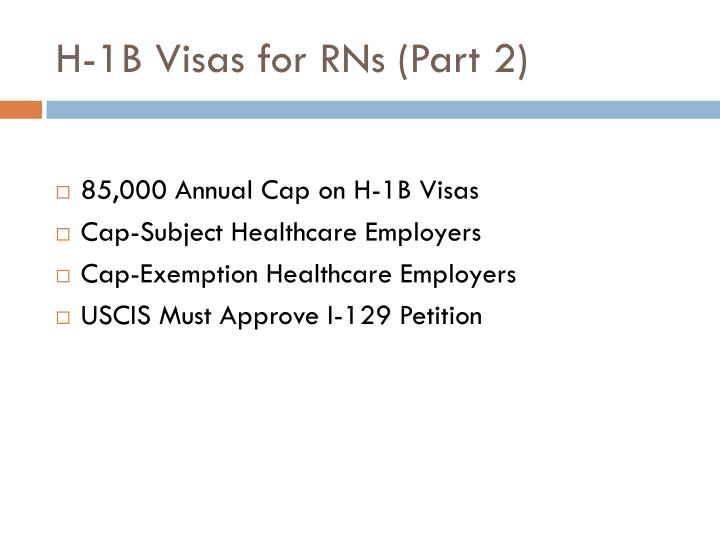 H-1B Visas for RNs (Part 2)