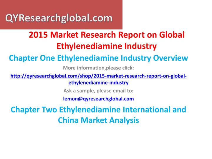 2015 market research report on global ethylenediamine industry1