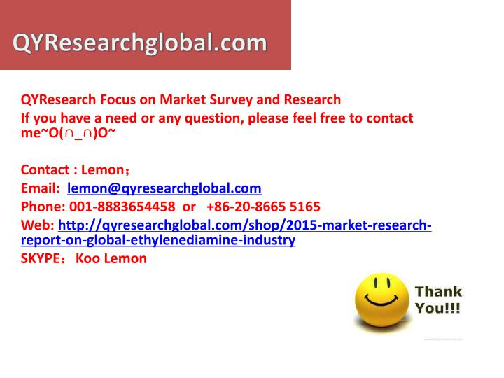 QYResearch Focus on Market Survey and Research