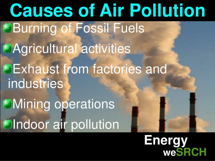 causes of air polution