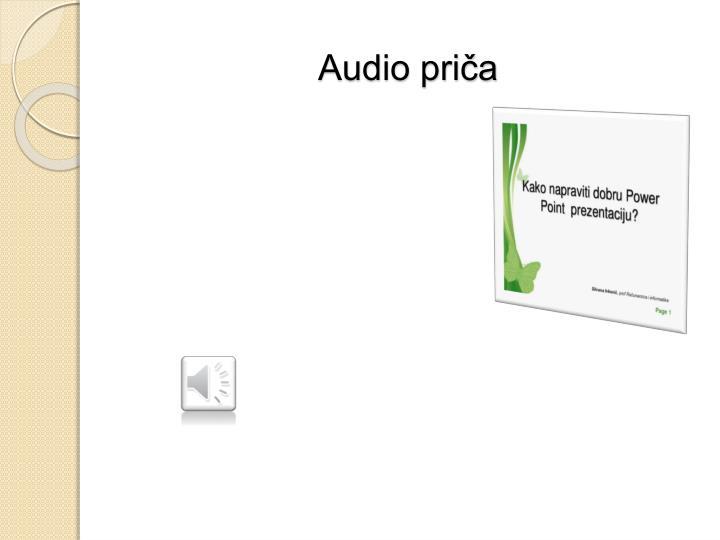 Audio priča