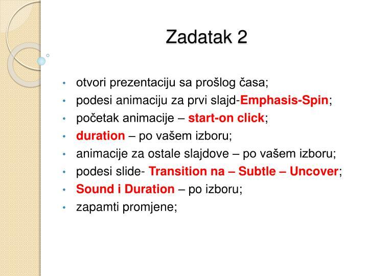 Zadatak 2
