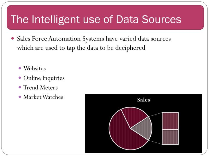 The intelligent use of data sources