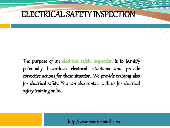 electrical safety inspection n.