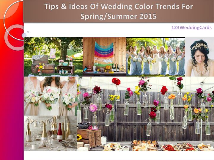 ppt tips ideas of wedding color trends for spring summer 2015
