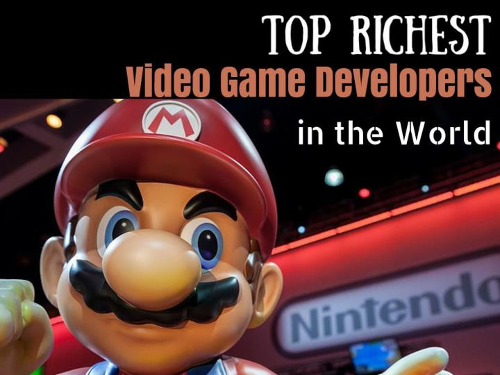 top richest video game developers in the world n.
