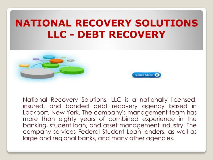 national recovery solutions llc debt recovery n.