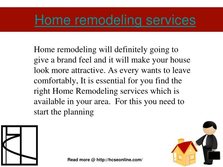 home remodeling services n.