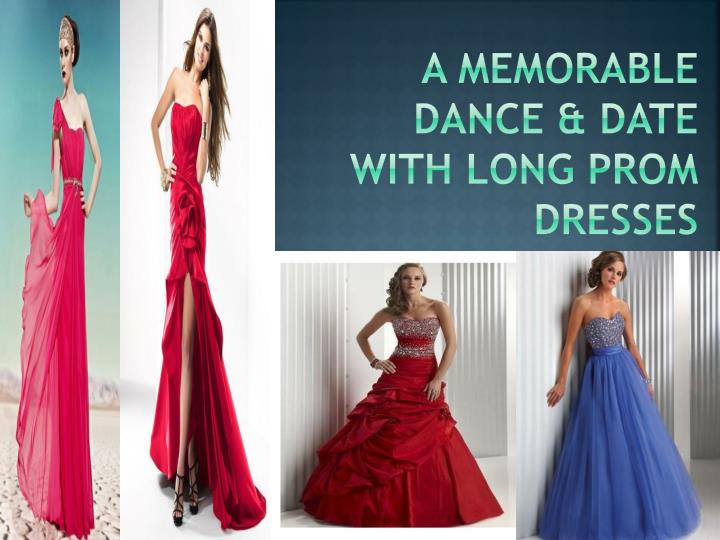 a memorable dance date with long prom dresses n.