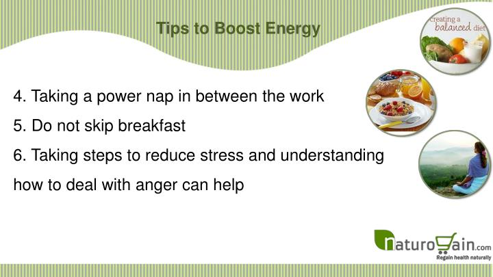 Tips to Boost Energy