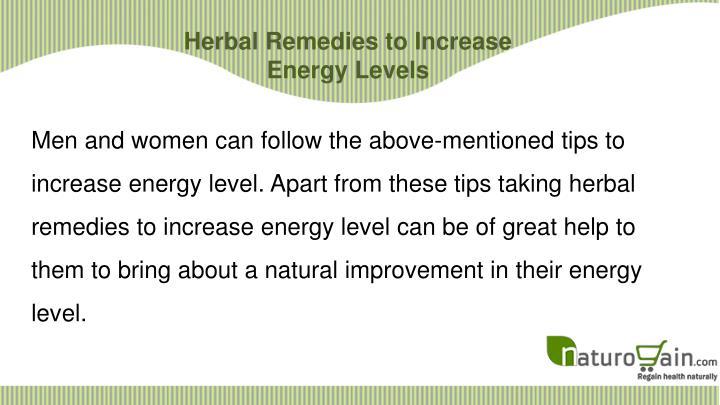 Herbal Remedies to Increase Energy Levels