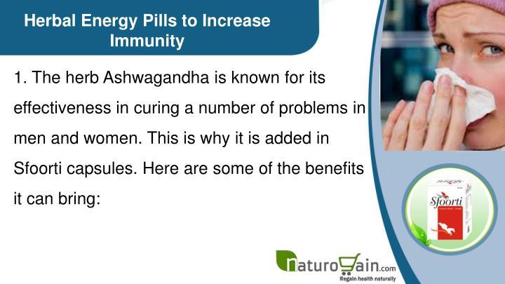 Herbal Energy Pills to Increase Immunity
