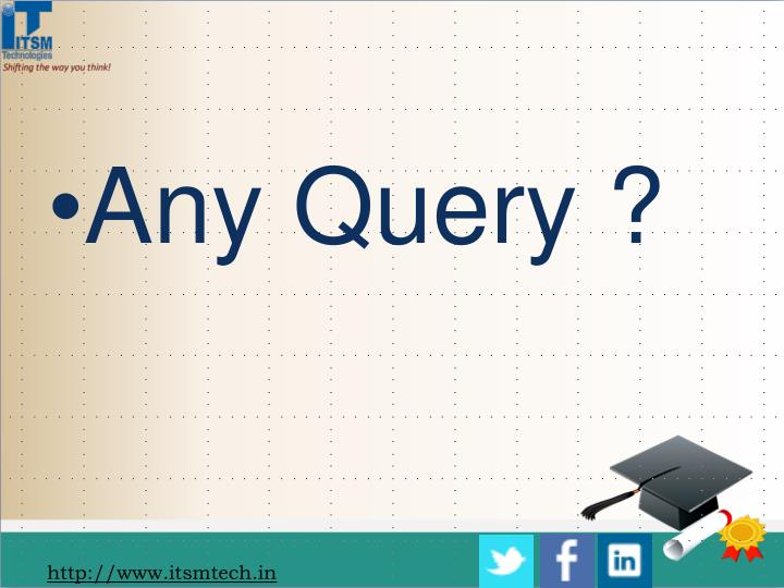 Any Query ?