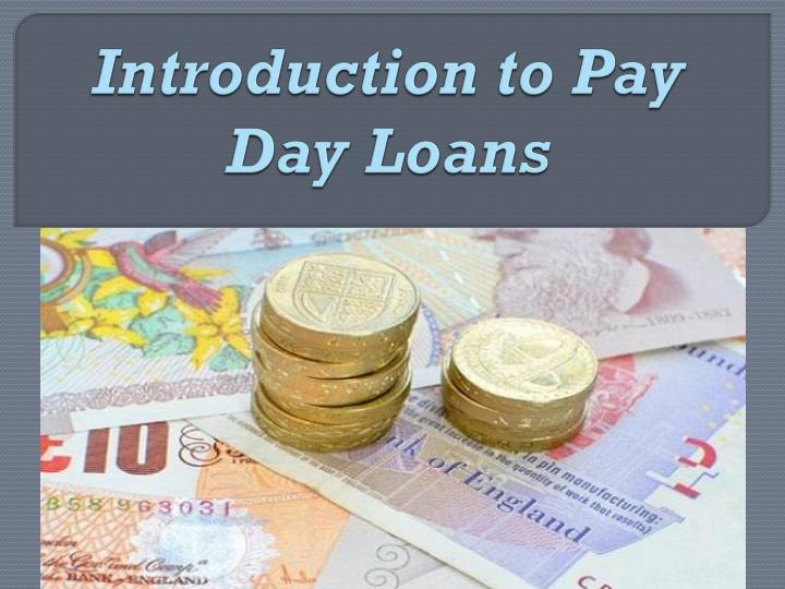 introduction to pay day loans n.