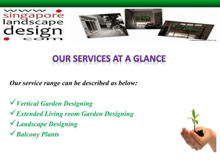 Ppt vertical garden singapore powerpoint presentation for Avenir maison pte ltd