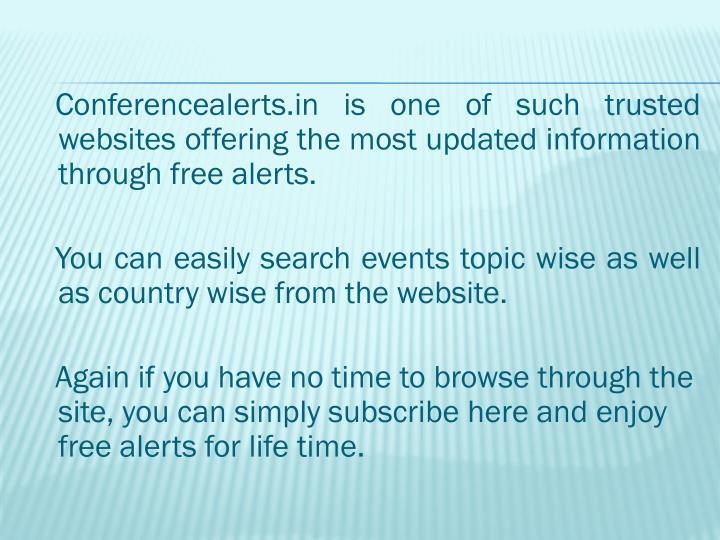 Conferencealerts.in