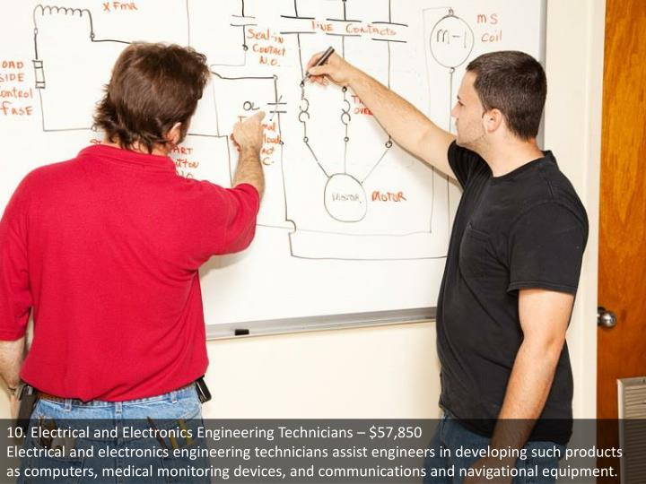 10. Electrical and Electronics Engineering Technicians – $57,850