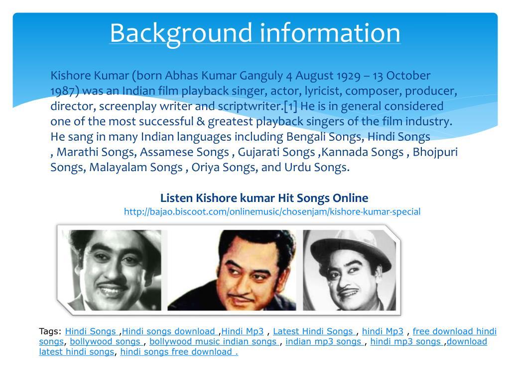 PPT - Kishore Kumar Hits Songs PowerPoint Presentation - ID