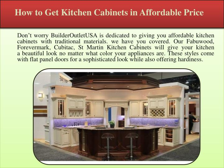 How to get kitchen cabinets in affordable price