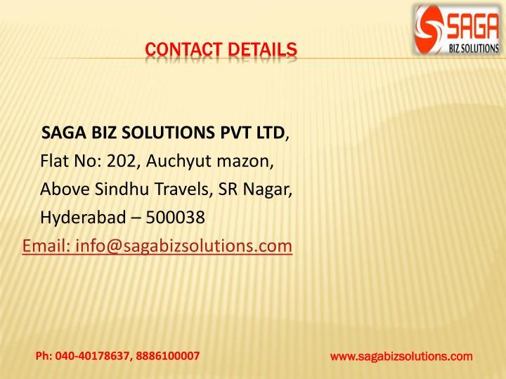 SAGA BIZ SOLUTIONS PVT LTD