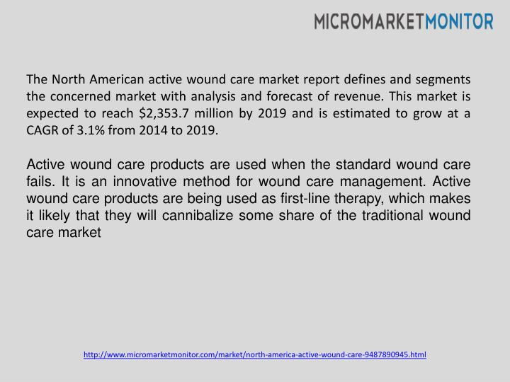 The North American active wound care market report defines and segments the concerned market with an...