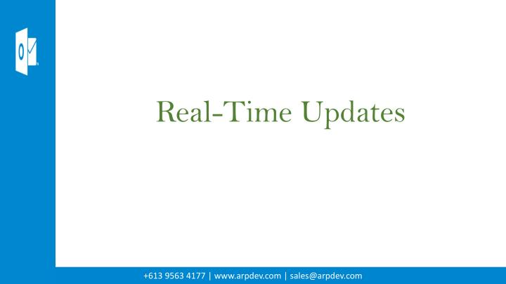 Real-Time Updates
