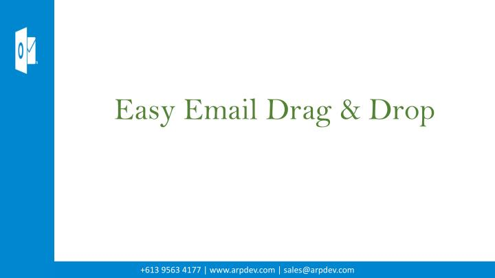 Easy Email Drag & Drop