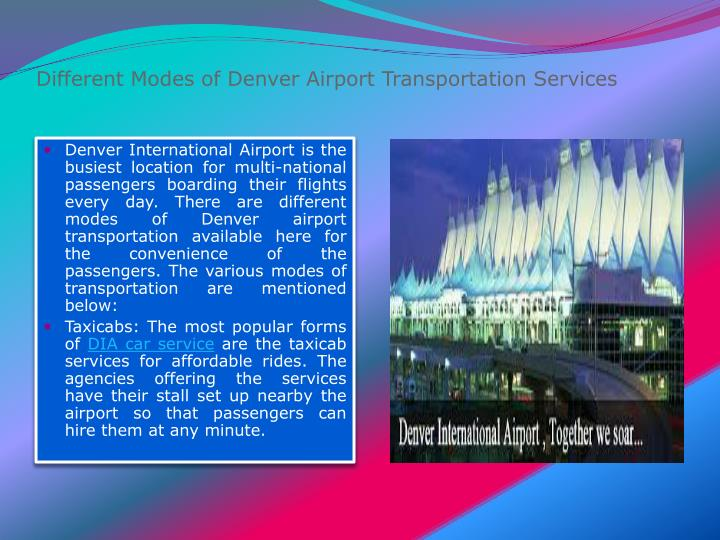 different modes of denver airport transportation services n.
