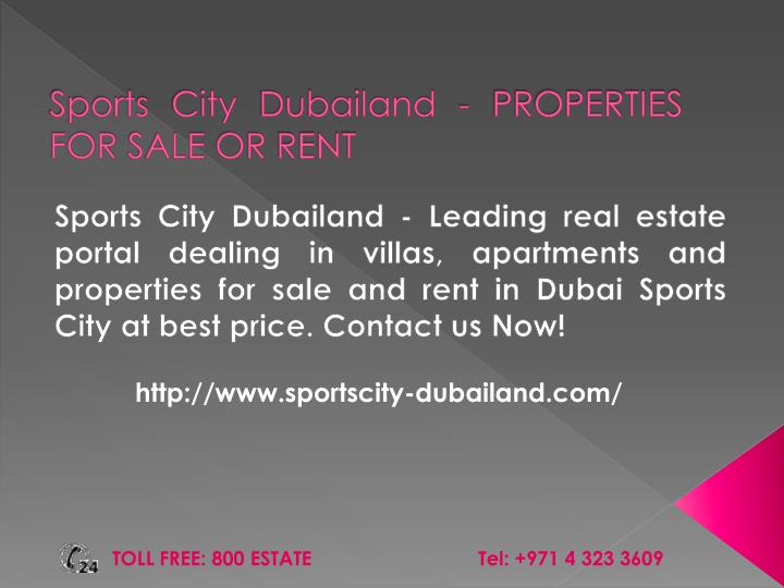 sports city dubailand properties for sale or rent n.