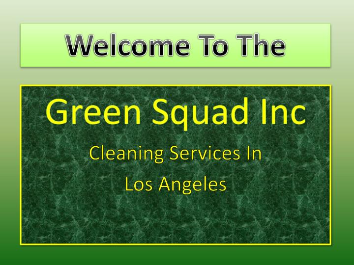 green squad inc cleaning services in los angeles n.