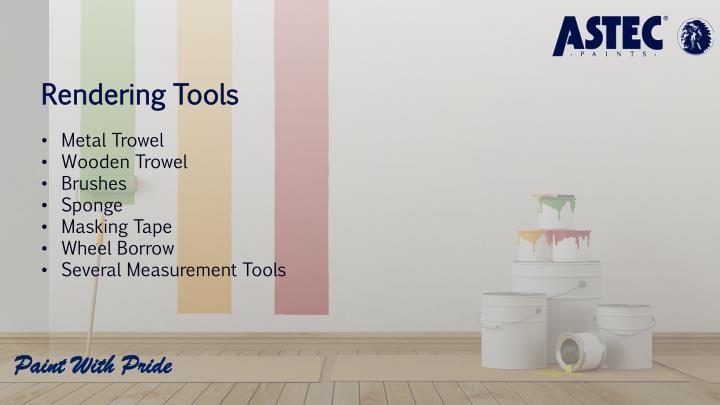 Rendering Tools