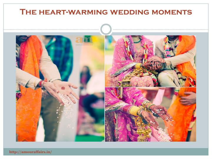 The heart-warming wedding moments