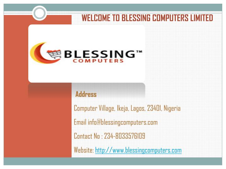 Welcome to blessing computers limited