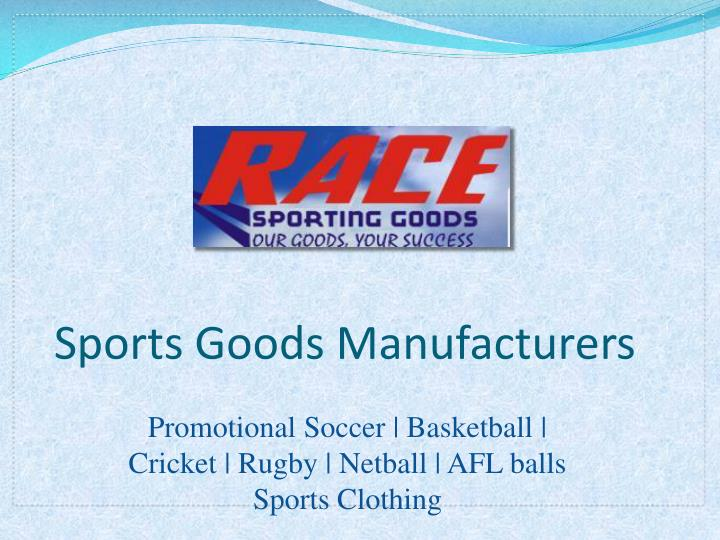 sports goods manufacturers n.