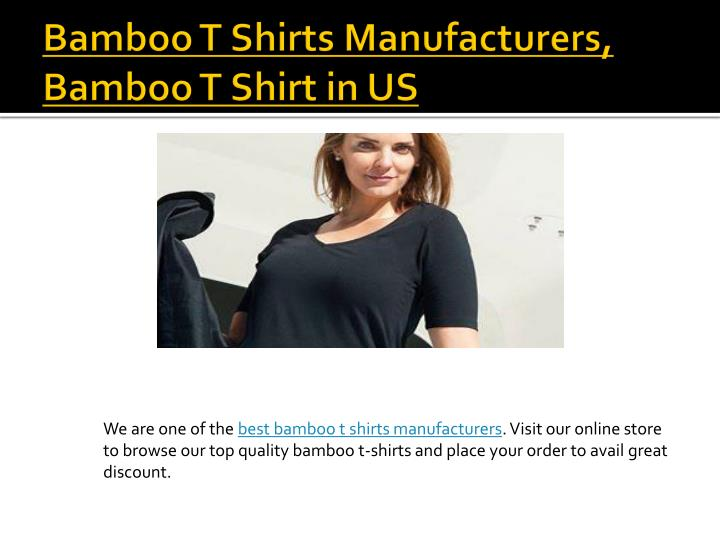 Bamboo T Shirts Manufacturers, Bamboo T Shirt in US